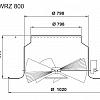 Габаритные и присоединительные размеры SWR 800 и SWRZ 800